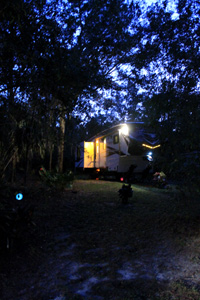 Our site by night