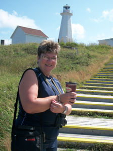 Sue at Cape Spear