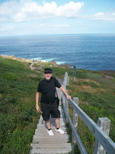 André at cape Spear